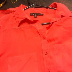 Tops - Coral size Medium button down shirt